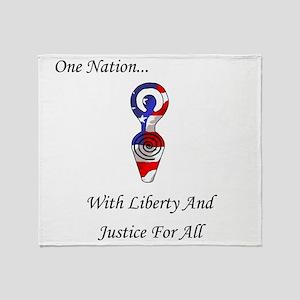 One Nation Goddess Throw Blanket