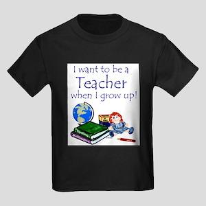 I Want to Be a Teacher-Kids Tee T-Shirt