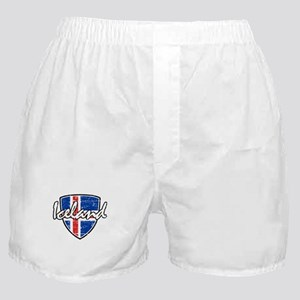 Iceland shield designs Boxer Shorts