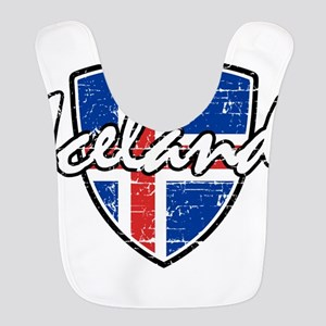 Iceland shield designs Polyester Baby Bib