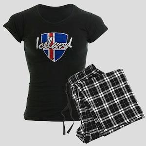 Iceland shield designs Women's Dark Pajamas