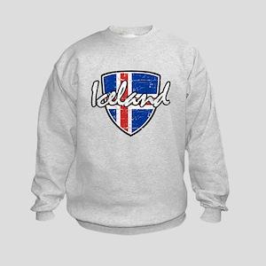 Iceland shield designs Kids Sweatshirt