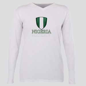 Nigerian shield designs Plus Size Long Sleeve Tee