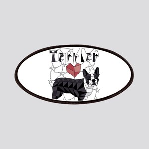 Geometric Boston Terrier Patch