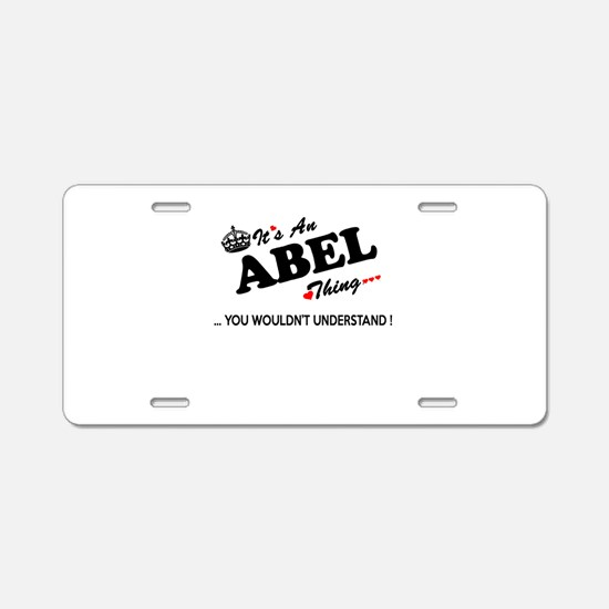 Cute Abel Aluminum License Plate