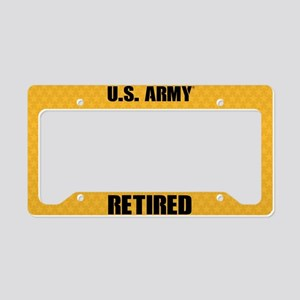 U.S. Army Retired License Plate Holder