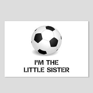 Im the little sister soccer ball Postcards (Packag