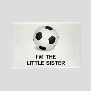 Im the little sister soccer ball Magnets