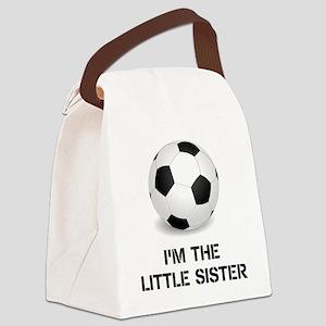 Im the little sister soccer ball Canvas Lunch Bag