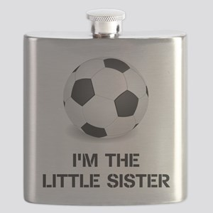 Im the little sister soccer ball Flask