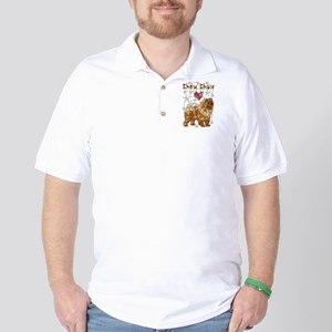 Geometric Chow Chow Golf Shirt