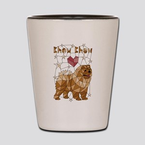 Geometric Chow Chow Shot Glass