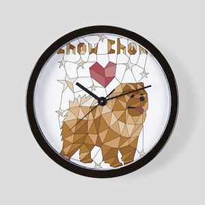 Geometric Chow Chow Wall Clock