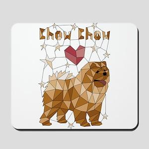 Geometric Chow Chow Mousepad