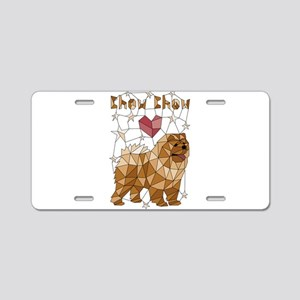 Geometric Chow Chow Aluminum License Plate