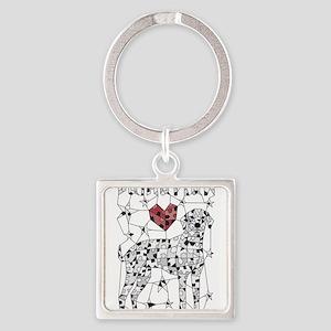 Geometric Dalmatian Keychains