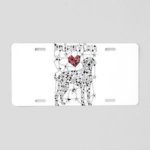 Geometric Dalmatian Aluminum License Plate