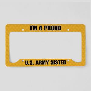 U.S. Army Sister License Plate Holder