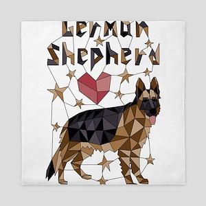 Geometric German Shepherd Queen Duvet