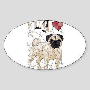Geometric Pug Sticker
