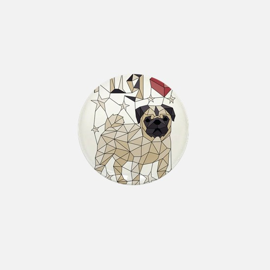 Geometric Pug Mini Button