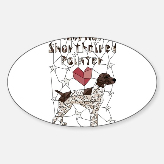Geometric German Shorthaired Pointer Decal
