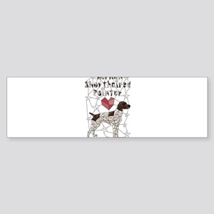 Geometric German Shorthaired Pointe Bumper Sticker