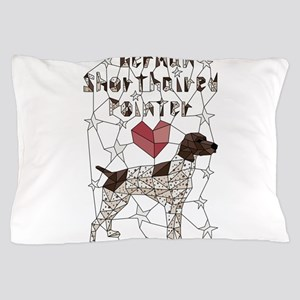 Geometric German Shorthaired Pointer Pillow Case