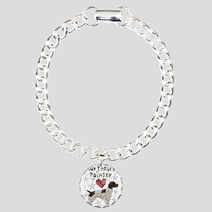 Geometric German Shortha Charm Bracelet, One Charm