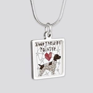Geometric German Shorthaired Pointer Necklaces