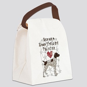 Geometric German Shorthaired Poin Canvas Lunch Bag