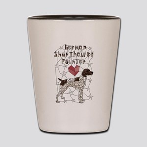 Geometric German Shorthaired Pointer Shot Glass