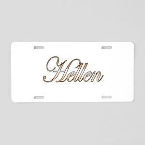 Gold Hellen Aluminum License Plate