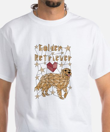 Geometric Golden Retriever T-Shirt