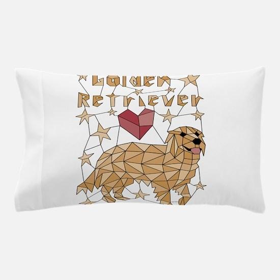 Geometric Golden Retriever Pillow Case