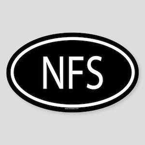NFS Oval Sticker