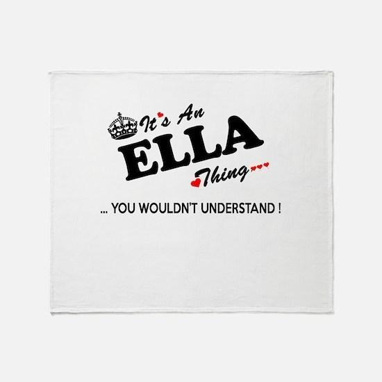 Cute Ella Throw Blanket