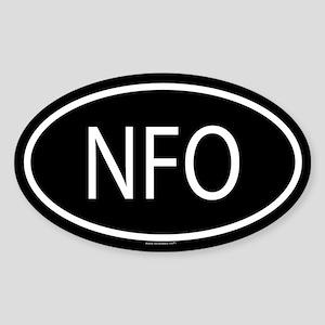 NFO Oval Sticker