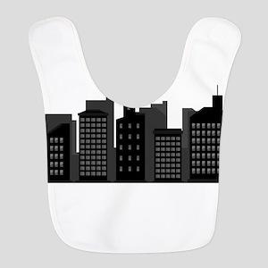 city skyline Polyester Baby Bib