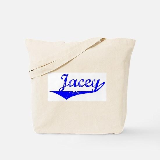 Jacey Vintage (Blue) Tote Bag