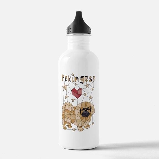 Cute Pekingese art Water Bottle