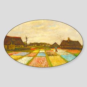 Flower Bed in Holland by Vincent van Gogh Sticker