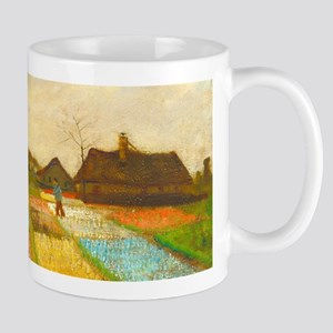 Flower Bed in Holland by Vincent van Gogh Mugs