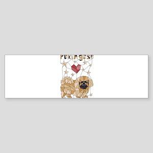 Geometric Pekingese Bumper Sticker