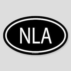 NLA Oval Sticker