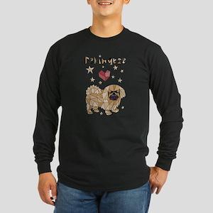 Geometric Pekingese Long Sleeve T-Shirt