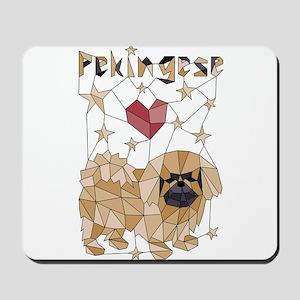 Geometric Pekingese Mousepad