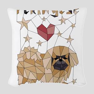 Geometric Pekingese Woven Throw Pillow