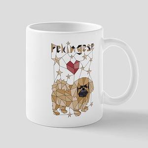Geometric Pekingese Mugs