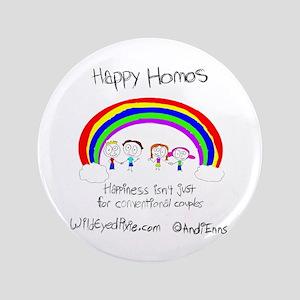 "Wild Eyed Pixie - Happy Homo 3.5"" Button"